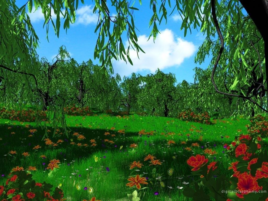 Фото лес и цветы